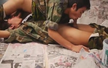 Asian cadets blowing each other's cocks