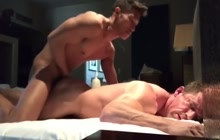 Muscled Daddy Fucked By Asian Cock