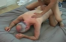 Asian twink fucking with white senior