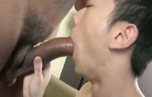 Big black dick for Asian guy